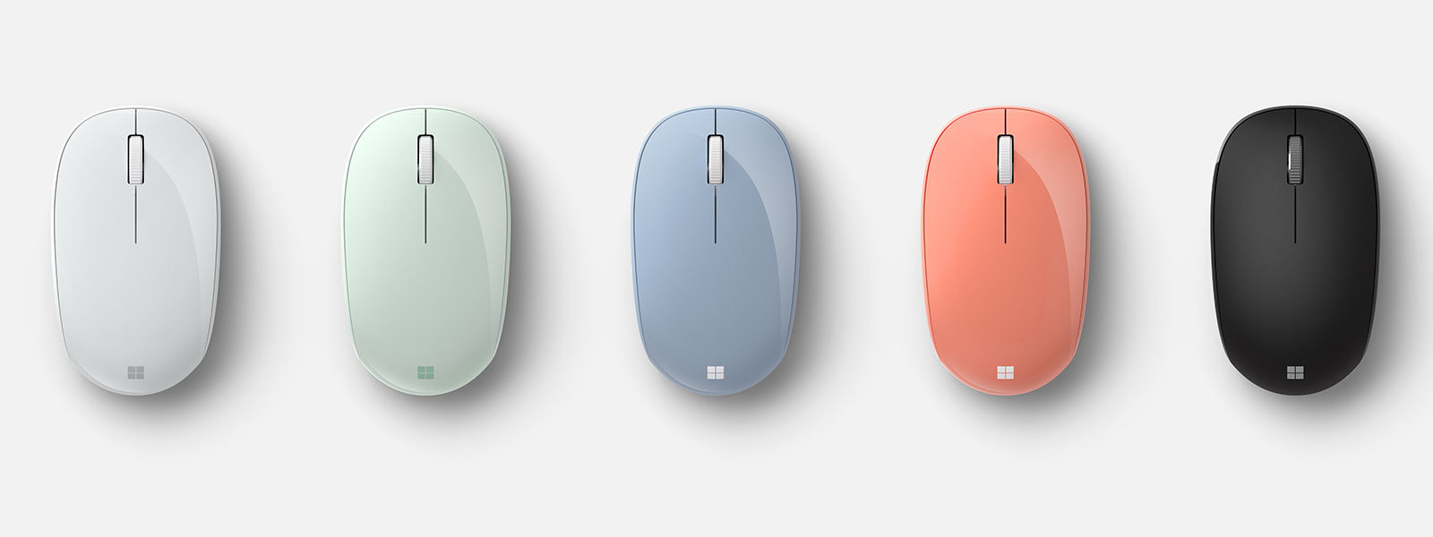 Microsoft Bluetooth® Mouse in all five color options.