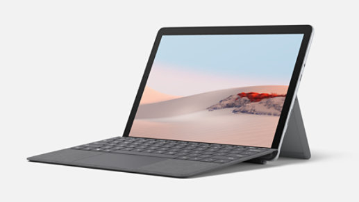 Surface Go 2 in laptop mode.
