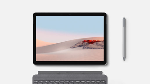 Surface Go 2 in tablet mode.