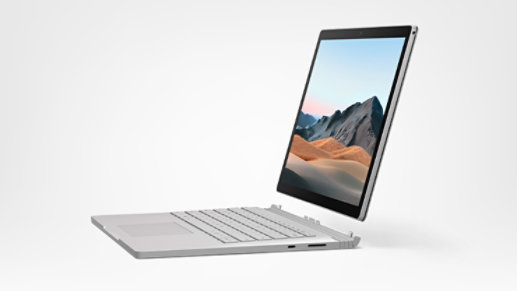 Surface Book 3 in tablet mode.