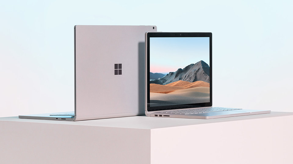Surface Book 3 in two sizes.
