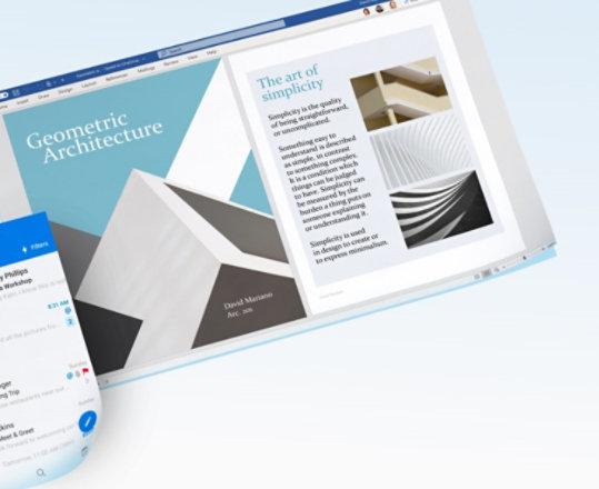 Deux panneaux montrant les applications Microsoft 365.