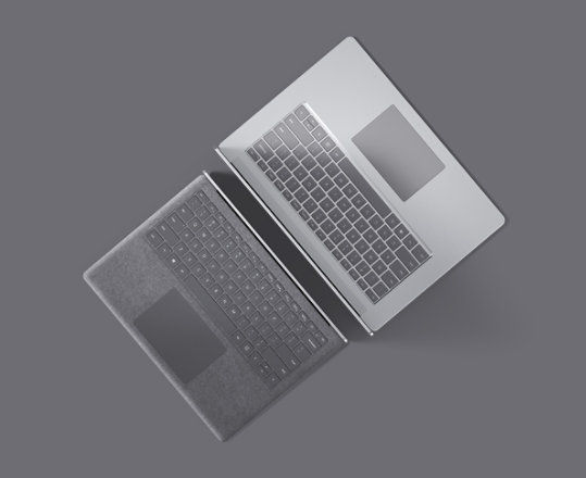 Surface Laptop 3 for Business in Platinum.