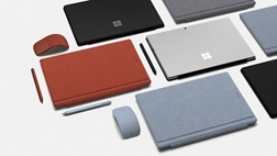 Surface devices and accessories in various colors.