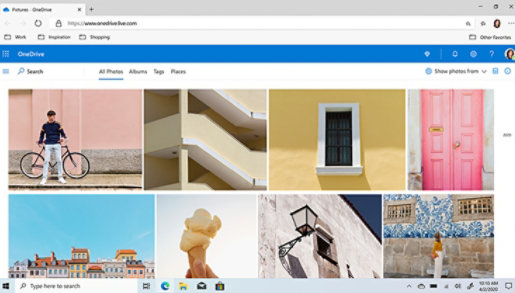 OneDrive files shown on screen.