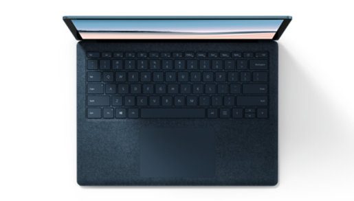 The keyboard of the Surface Laptop 3.