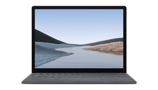Front view of Surface Laptop 3, which showcases the touchscreen.