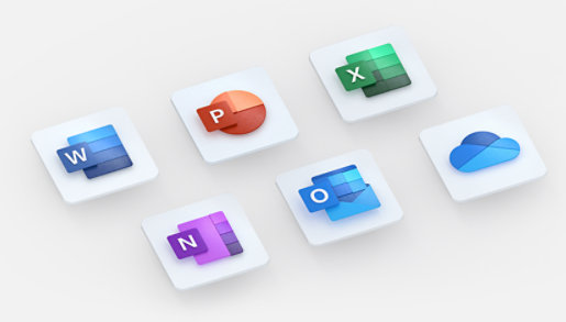 App icons for apps that are included in Microsoft 365