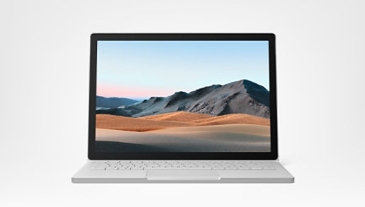 Surface Book 3 front view.