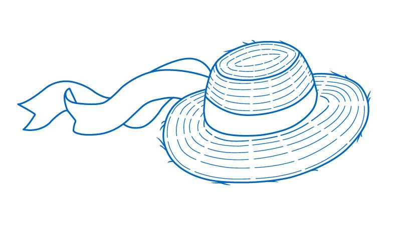 Hat lined illustration