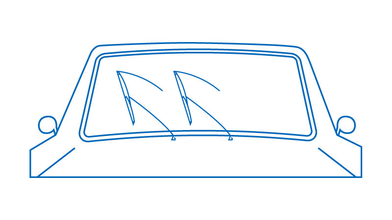Windshield wipers on a car illustration