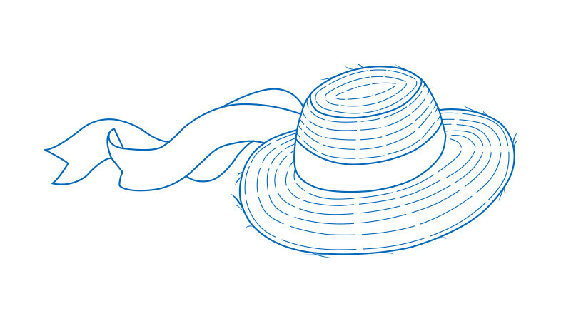 Hat lined illustration