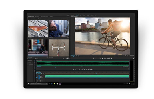 Settings and controls in Adobe Premier Pro CC.