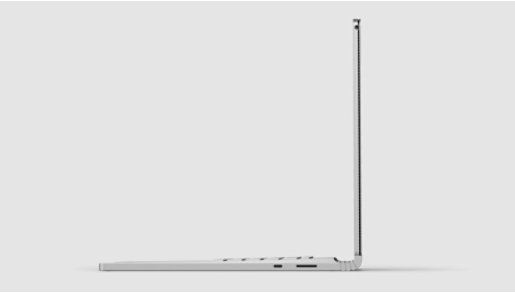 Surface Book 3 side view.
