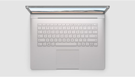 Surface Book 3 top view of keyboard.