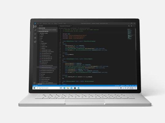 Surface Book 3 running Microsoft Visual Studio.