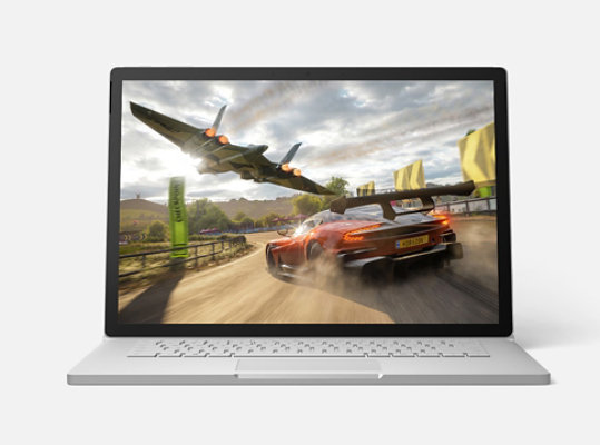 Surface Book 3 running an Xbox game.