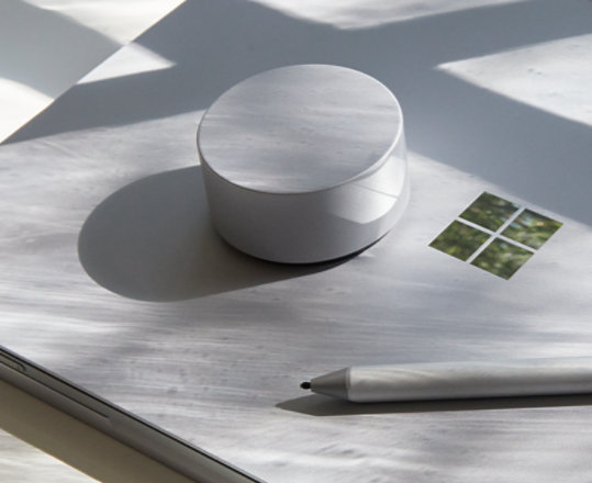 Surface Dial with Surface Pen and a Surface device.