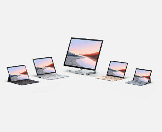 The family of Surface devices.