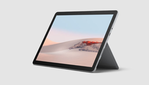 Surface Go 2 with an open Kickstand.