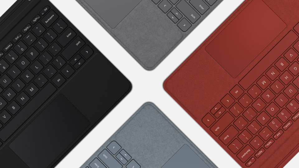 Surface Go Type Cover in various colours.