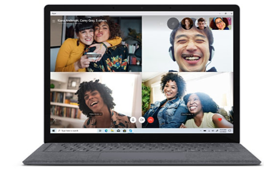 Surface Laptop 3 dual far-field Studio Mics for loud and clear video calls and recording.