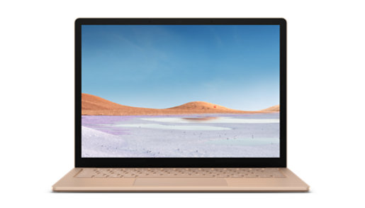 The screen of the Surface Laptop 3.