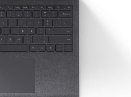 Warm Alcantara keyboard in Platinum.