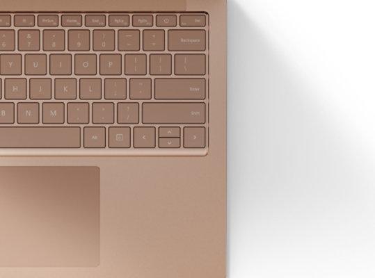 Cool metal keyboard in Sandstone.