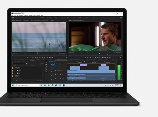 Adobe Premiere Pro on Surface Laptop 4.