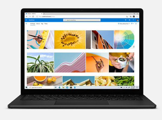OneDrive photos and files on Surface Laptop 4.