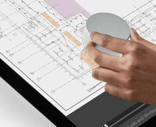 Surface Dial on a Studio.