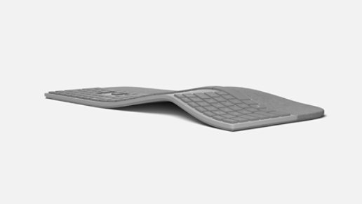 Rear view of Surface Ergonomic Keyboard.