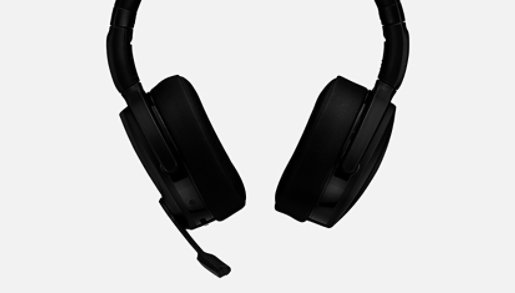 Sennheiser Adapt 560 headset in black from the front.