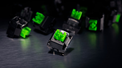 Closeup of a key of the Razer Black Widow Elite Keyboard