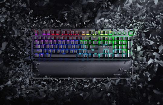 Birdseye view of the Black Widow Elite Keyboard