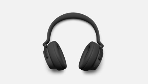 Matte Black Surface Headphones 2.