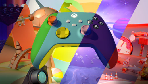 An Xbox Design Lab controller.