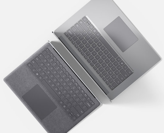 Surface Laptop 4 in two screen sizes and finishes.