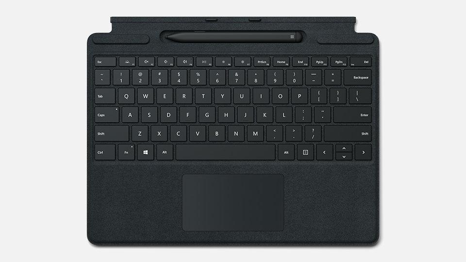 Surface Pro X Keyboard in black.