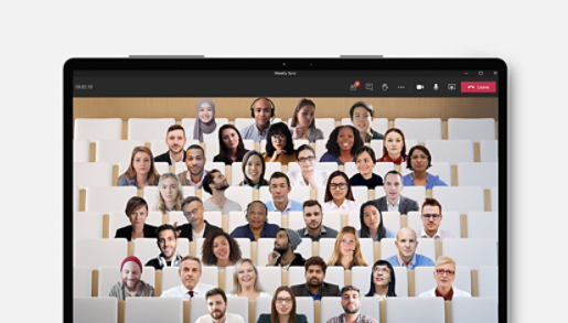 A group of people using Microsoft Teams