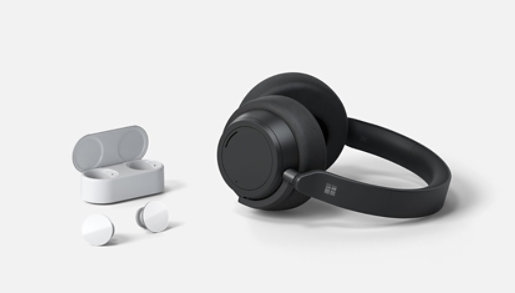 Surface Earbuds and Surface Headphones 2