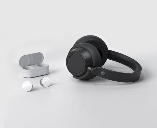 Surface Earbuds and Surface Headphones 2.
