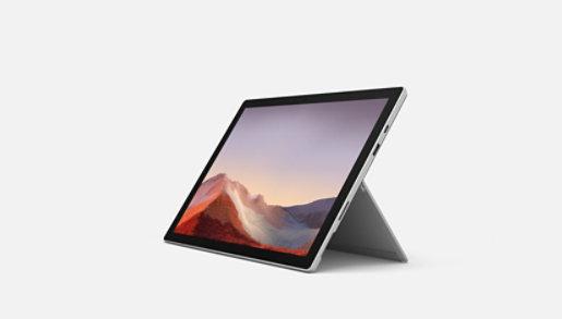 Platinum Surface Pro 7  showing kickstand