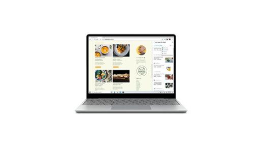 A Surface Laptop Go device.