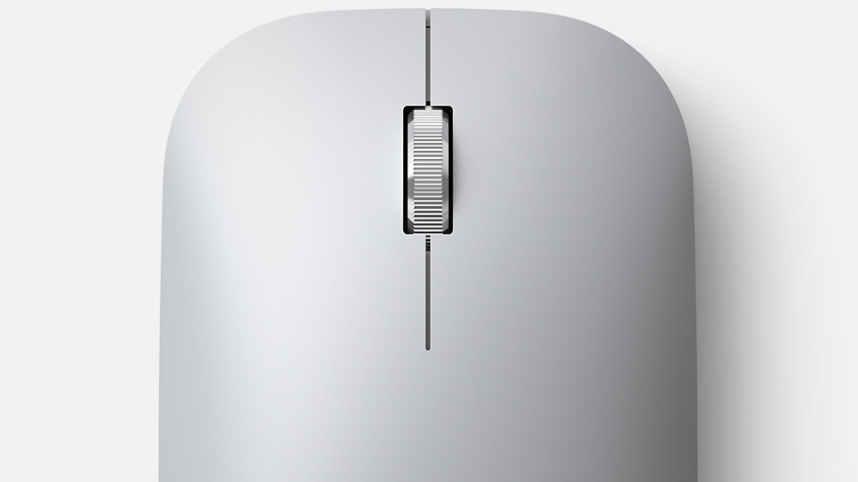 Close-up of the wheel on Surface Mobile Mouse.