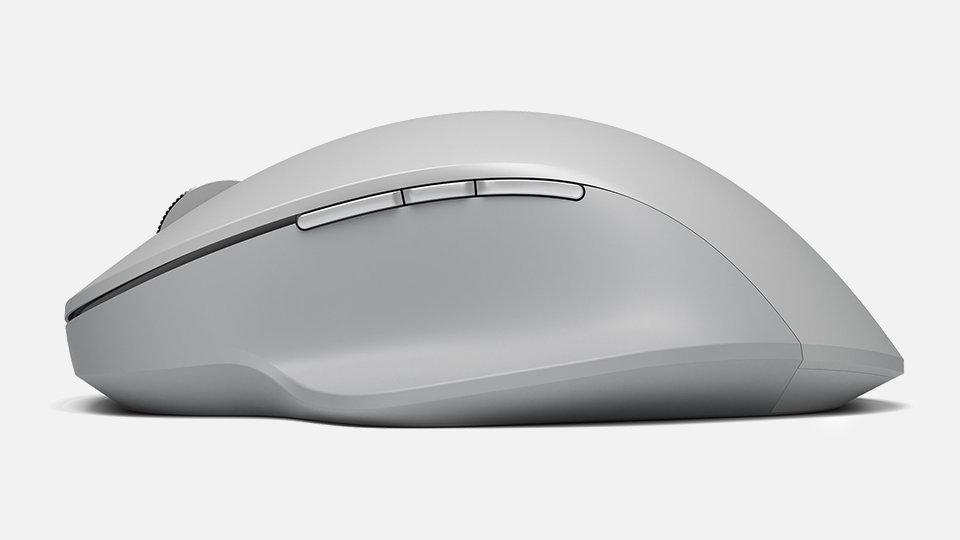 Surface Precision Mouse with programmable buttons visible.