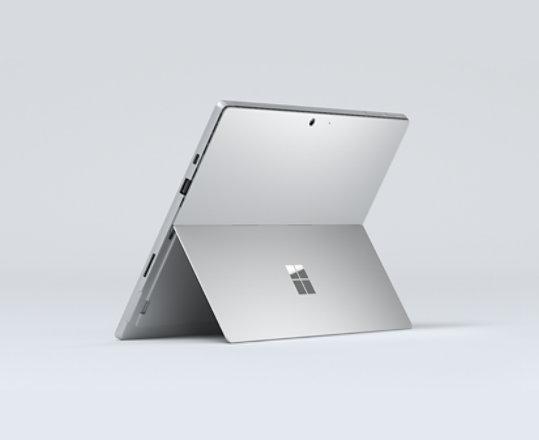 Surface Pro 7 in Platinum.