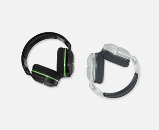 Black and white versions of the Stealth 600 Headset.