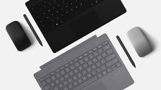 Surface accessories in Platinum and Black.